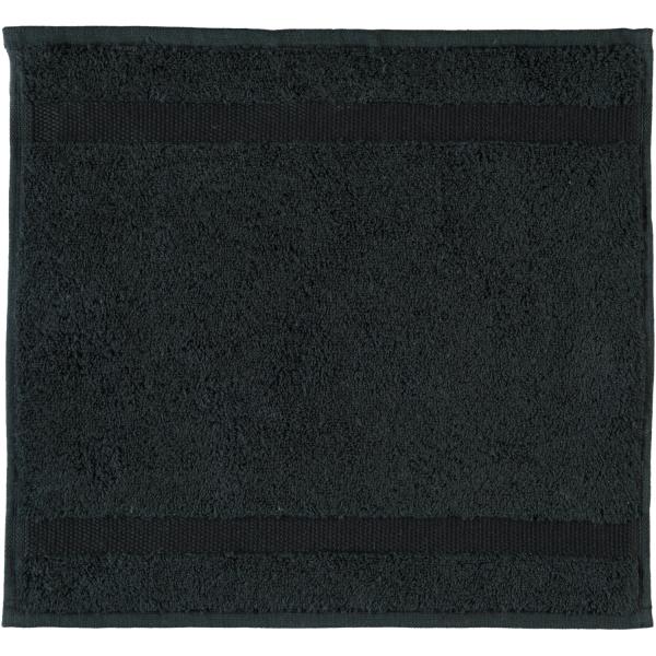 Rhomtuft - Handtücher Princess - Farbe: schwarz - 15 Seiflappen 30x30 cm