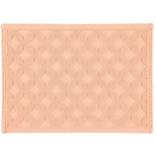 Rhomtuft - Badematte Seaside - Farbe: peach - 405 50x70 cm