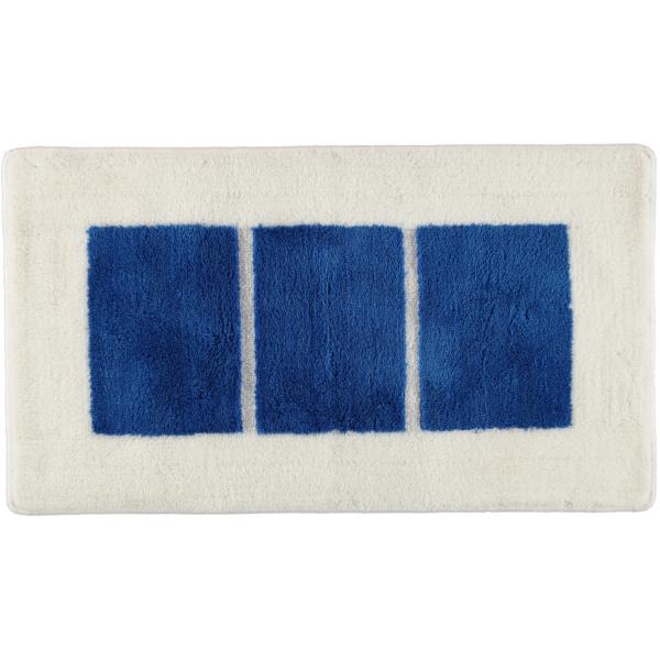 Rhomtuft RHOMY - Badteppich Liberty 256 - Farbe: weiß/blau - 844 65x115 cm