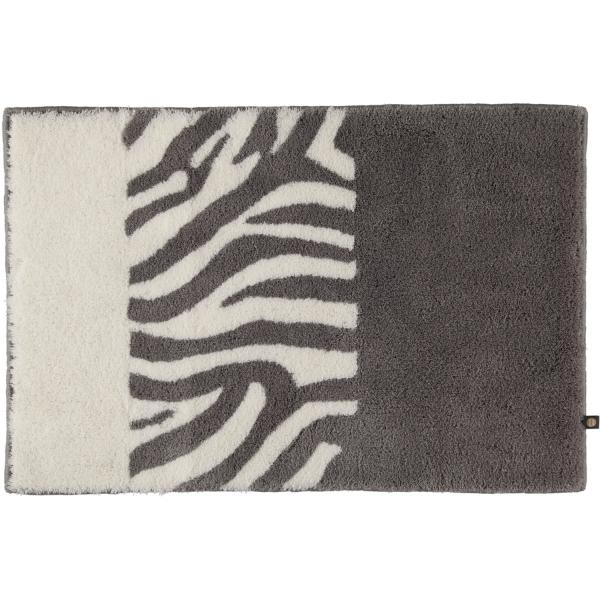Rhomtuft - Badteppiche Zebra - Farbe: kiesel/weiss - 1401 50x65 cm