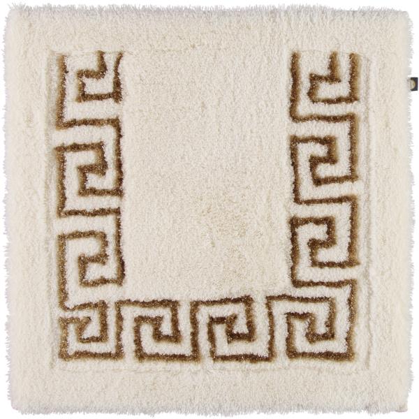 Rhomtuft - Badteppich Mäander - Farbe: natur-jasmin/goldlurex - 936 Toilettenvorlage 60x60 cm
