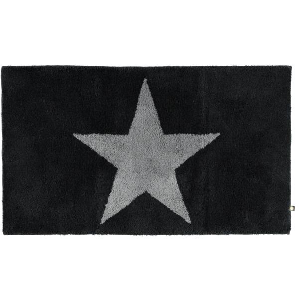 Rhomtuft - Badteppich STAR 216 - Farbe: schwarz/graphit - 1464 70x120 cm