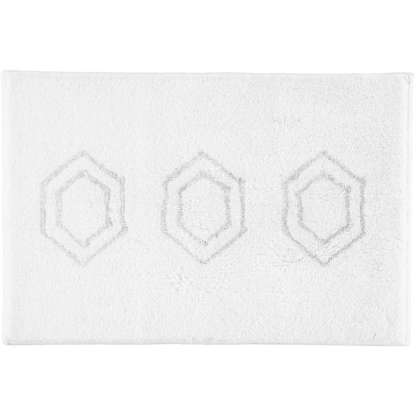 Rhomtuft RHOMY - Badteppich Elegance 259 - Farbe: weiß/silberlurex - 151 60x90 cm