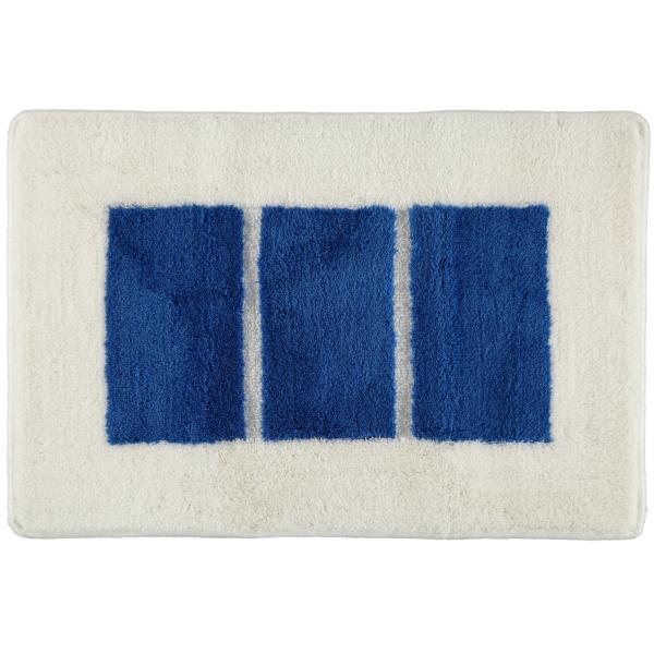 Rhomtuft RHOMY - Badteppich Liberty 256 - Farbe: weiß/blau - 844