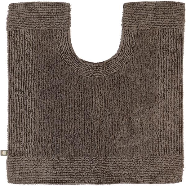 Rhomtuft - Badteppiche Prestige - Farbe: taupe - 58 Toilettenvorlage mit Ausschnitt 60x60 cm