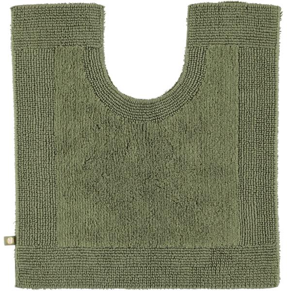 Rhomtuft - Badteppiche Prestige - Farbe: olive - 404 Toilettenvorlage mit Ausschnitt 60x60 cm