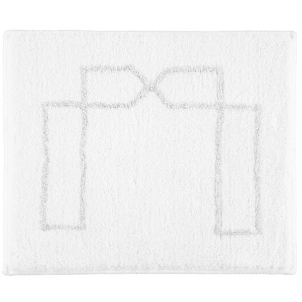 Rhomtuft RHOMY - Badteppich Classic 258 - Farbe: weiß/silberlurex - 151 50x60 cm