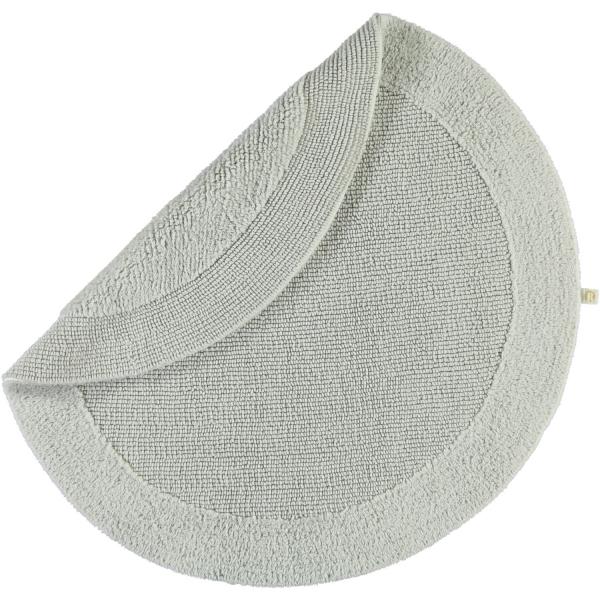Rhomtuft - Badteppiche Exquisit - Farbe: perlgrau - 11 80 cm rund