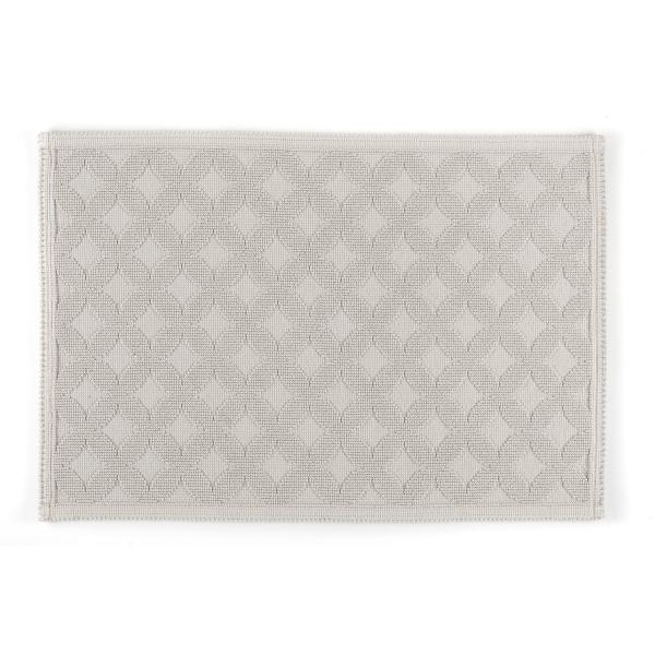 Rhomtuft - Badematte Seaside - Farbe: perlgrau - 11 70x120 cm