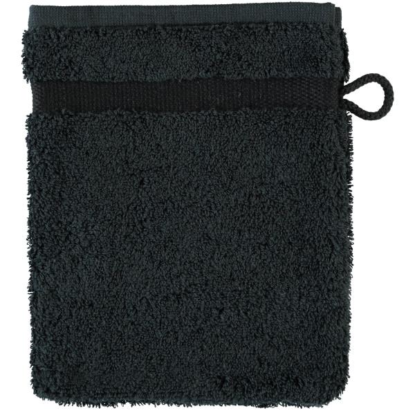 Rhomtuft - Handtücher Princess - Farbe: schwarz - 15 Waschhandschuh 16x22 cm