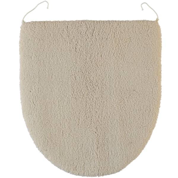 Rhomtuft - Badteppiche Square - Farbe: beige - 42 Deckelbezug 45x50 cm