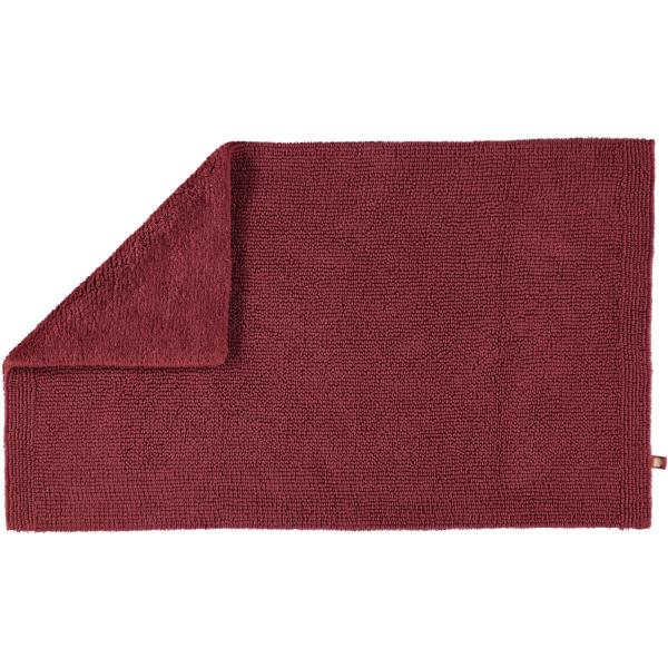 Rhomtuft - Badteppich Pur - Farbe: marsala - 391 70x130 cm