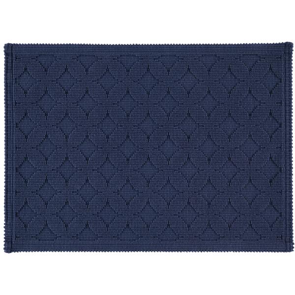Rhomtuft - Badematte Seaside - Farbe: kobalt - 84 50x70 cm