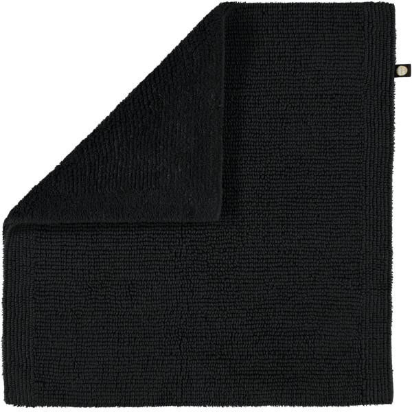 Rhomtuft - Badteppich Pur - Farbe: schwarz - 15 60x60 cm