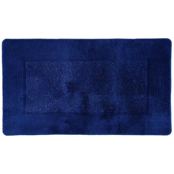 Rhomtuft RHOMY - Badteppich Versailles 255 - Farbe: royalblau/lurex - 408 65x115 cm