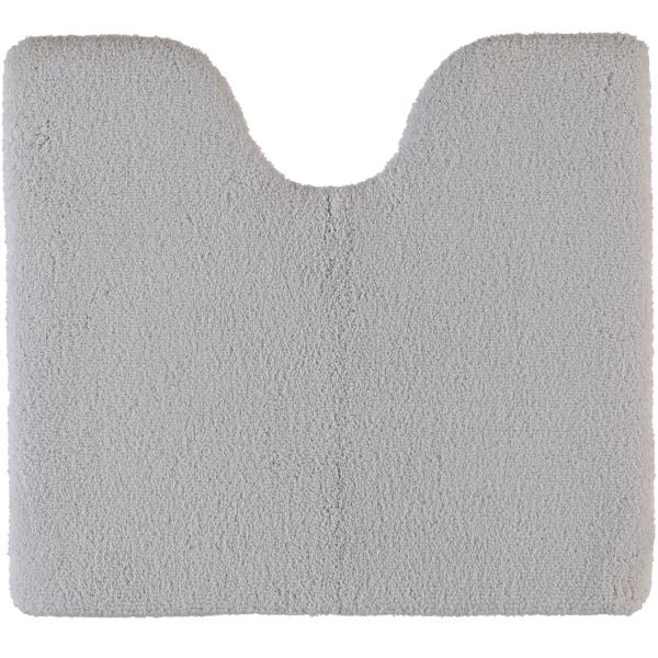 Rhomtuft - Badteppiche Square - Farbe: perlgrau - 11 Toilettenvorlage mit Ausschnitt 55x60 cm