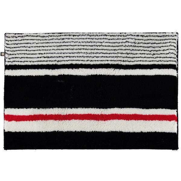 Rhomtuft - Badteppiche Maritim 237 - Farbe: schwarz/weiss/carmin - 789 50x65 cm