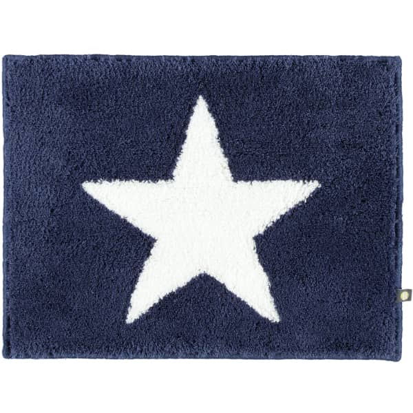 Rhomtuft - Badteppich STAR 216 - Farbe: kobalt/weiss - 756 60x60 cm