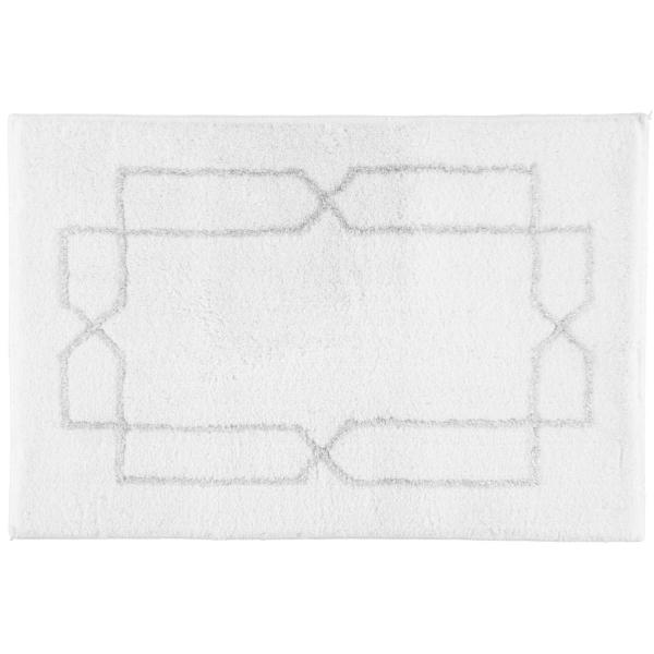 Rhomtuft RHOMY - Badteppich Classic 258 - Farbe: weiß/silberlurex - 151 60x90 cm