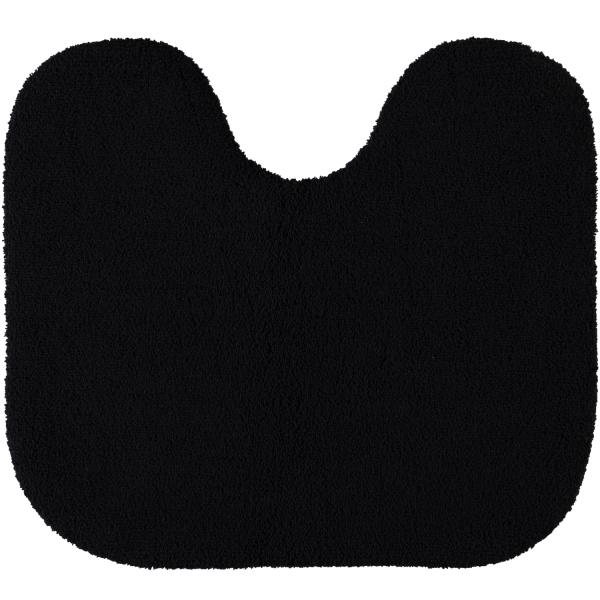 Rhomtuft - Badteppiche Aspect - Farbe: schwarz - 15 Toilettenvorlage mit Ausschnitt 55x60 cm