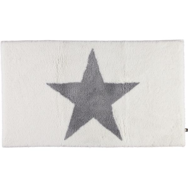 Rhomtuft - Badteppich STAR 216 - Farbe: weiss/edelstahl - 1341 70x120 cm
