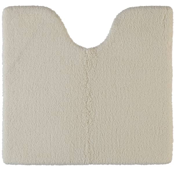 Rhomtuft - Badteppiche Square - Farbe: natur-jasmin - 20 Toilettenvorlage mit Ausschnitt 55x60 cm