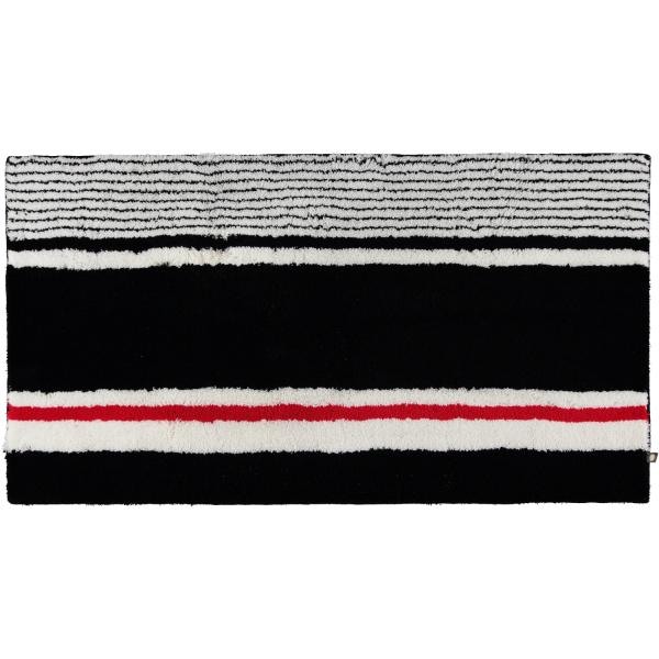 Rhomtuft - Badteppiche Maritim 237 - Farbe: schwarz/weiss/carmin - 789 70x130 cm