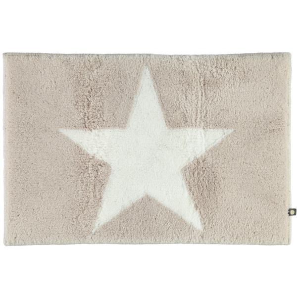 Rhomtuft - Badteppich STAR 216 - Farbe: stone/weiß - 1335