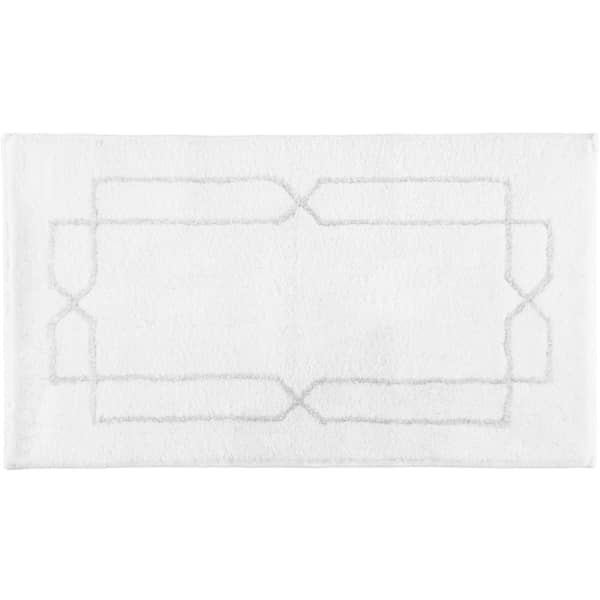 Rhomtuft RHOMY - Badteppich Classic 258 - Farbe: weiß/silberlurex - 151 65x115 cm
