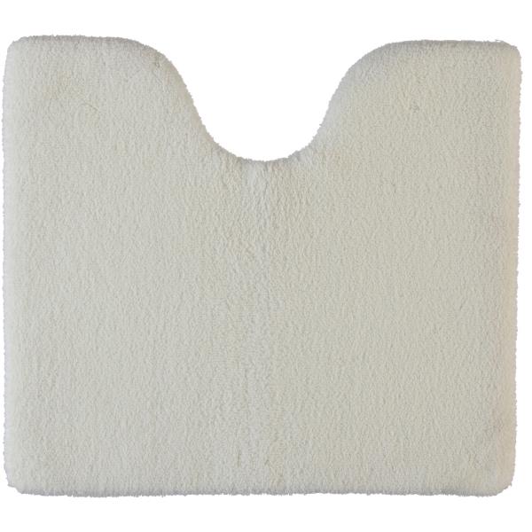 Rhomtuft - Badteppiche Square - Farbe: weiss - 01 Toilettenvorlage mit Ausschnitt 55x60 cm