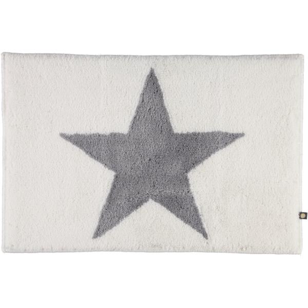 Rhomtuft - Badteppich STAR 216 - Farbe: weiss/edelstahl - 1341 60x90 cm