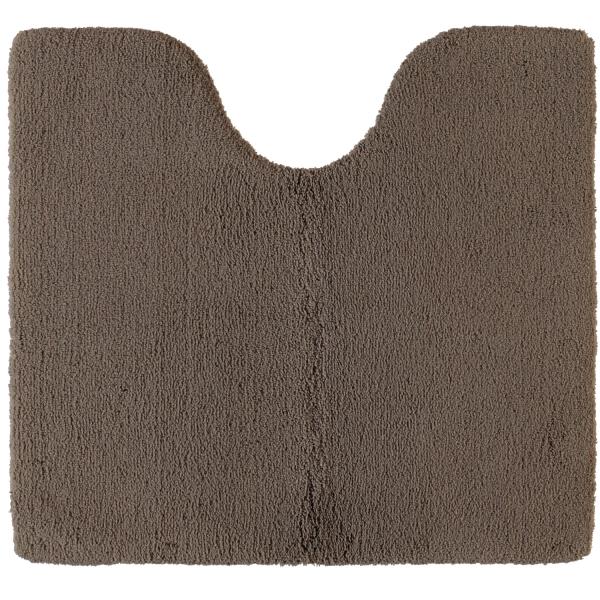 Rhomtuft - Badteppiche Square - Farbe: taupe - 58 Toilettenvorlage mit Ausschnitt 55x60 cm
