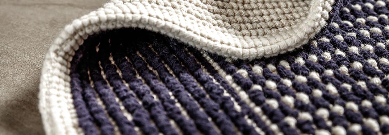 Rhomtuft - Badematte Sailor - Farbe: navy/natur - 1512 Detailbild 3