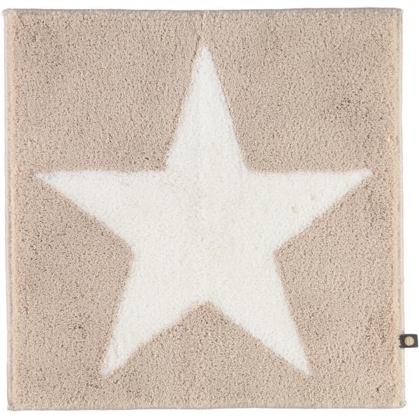 Rhomtuft - Badteppich STAR 216 - Farbe: stone/weiß - 1335 60x60 cm