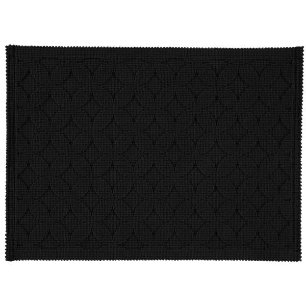 Rhomtuft - Badematte Seaside - Farbe: schwarz - 15 50x70 cm