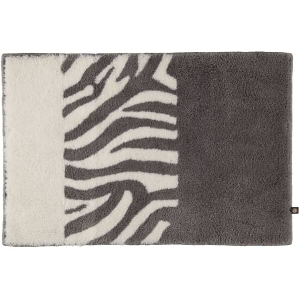 Rhomtuft - Badteppiche Zebra - Farbe: kiesel/weiss - 1401 70x130 cm