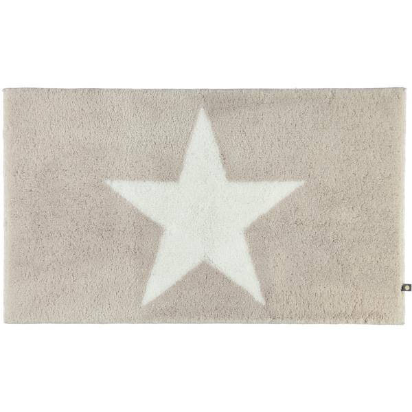 Rhomtuft - Badteppich STAR 216 - Farbe: stone/weiß - 1335 70x120 cm