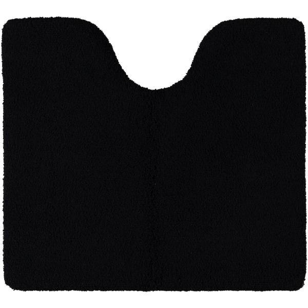 Rhomtuft - Badteppiche Square - Farbe: schwarz - 15 Toilettenvorlage mit Ausschnitt 55x60 cm