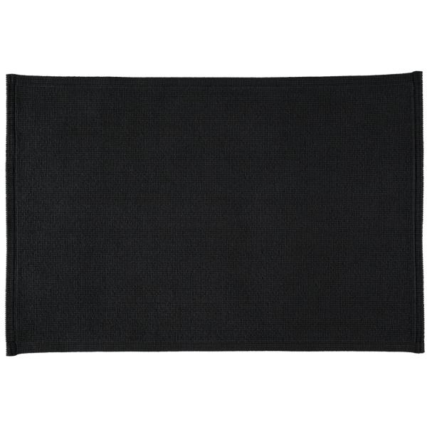 Rhomtuft - Badteppiche Plain - Farbe: schwarz - 15 70x120 cm