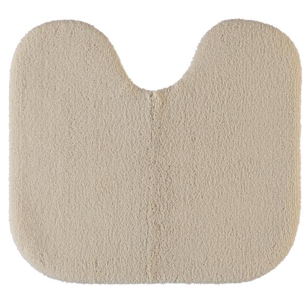 Rhomtuft - Badteppiche Aspect - Farbe: beige - 42 Toilettenvorlage mit Ausschnitt 55x60 cm
