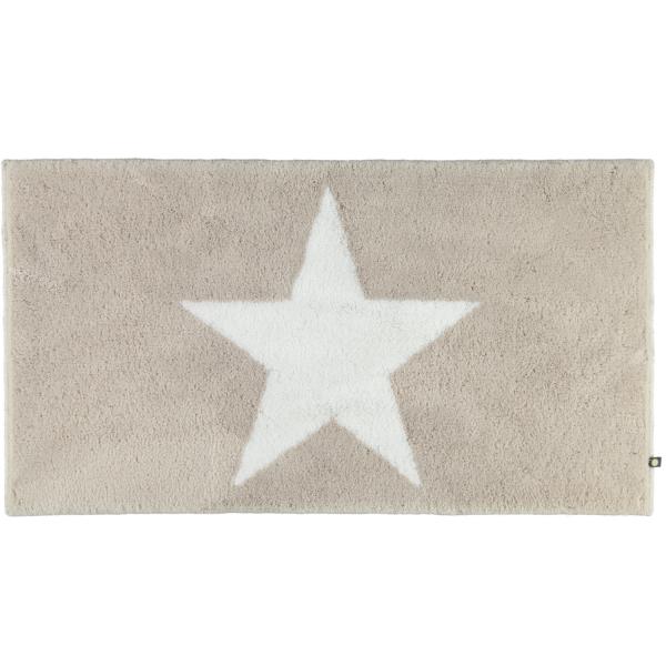 Rhomtuft - Badteppich STAR 216 - Farbe: stone/weiß - 1335 70x130 cm