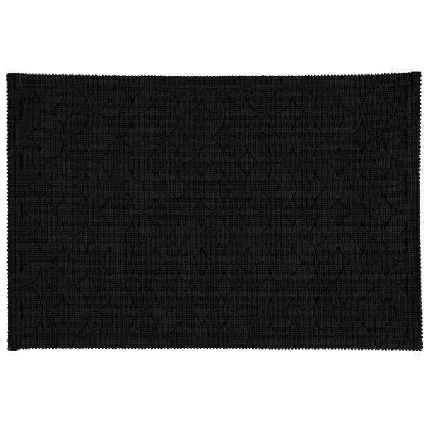Rhomtuft - Badematte Seaside - Farbe: schwarz - 15 60x90 cm