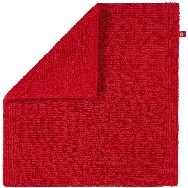 Rhomtuft - Badteppich Pur - Farbe: carmin - 18 60x60 cm