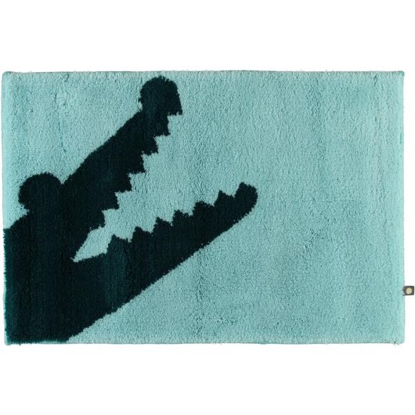 Rhomtuft - Badteppich Croc - Farbe: mint/pazifik - 1210