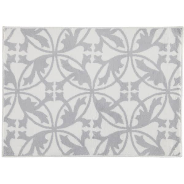 Rhomtuft - Badematte Mauro - Farbe: weiß/kiesel - 1469 50x70 cm
