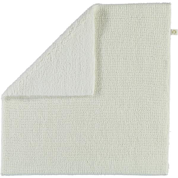 Rhomtuft - Badteppich Pur - Farbe: weiss - 01 60x60 cm