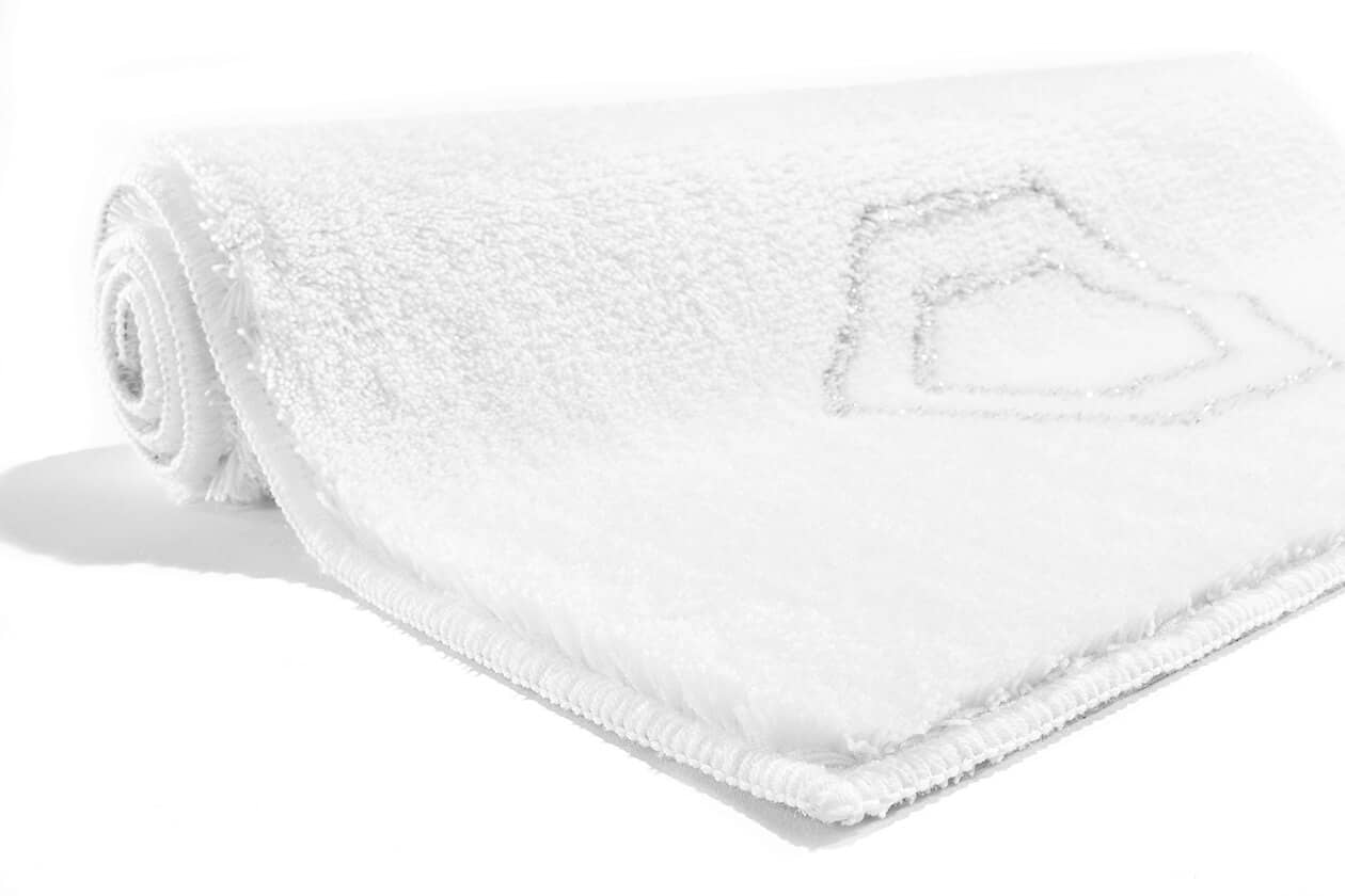 Rhomtuft RHOMY - Badteppich Elegance 259 - Farbe: weiß/silberlurex - 151 60x90 cm Detailbild 1