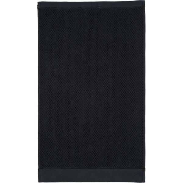 Rhomtuft - Handtücher Baronesse - Farbe: schwarz - 15 Gästetuch 30x50 cm