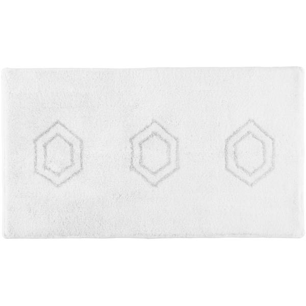 Rhomtuft RHOMY - Badteppich Elegance 259 - Farbe: weiß/silberlurex - 151 65x115 cm
