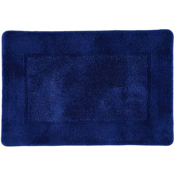 Rhomtuft RHOMY - Badteppich Versailles 255 - Farbe: royalblau/lurex - 408 60x90 cm